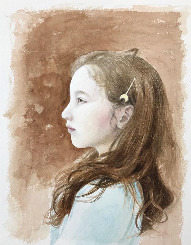 上西竜二作品「女の子」