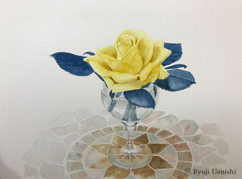 上西竜二作品「黄色いバラ」